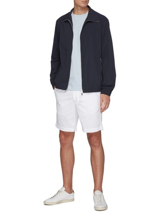Figure View - Click To Enlarge - THEORY - 'Norton' drawstring waist shorts