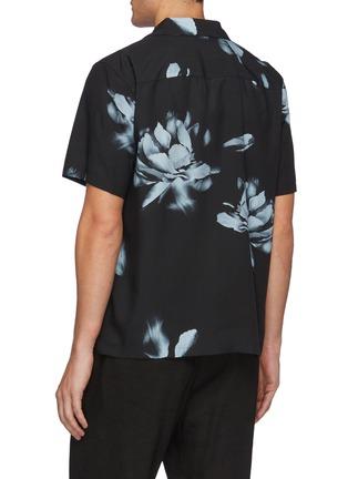 Back View - Click To Enlarge - THEORY - Noll' Floral Print Hawaiian Shirt