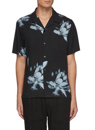 Main View - Click To Enlarge - THEORY - Noll' Floral Print Hawaiian Shirt