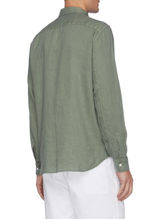 Back View - Click To Enlarge - THEORY - 'Irving' linen shirt