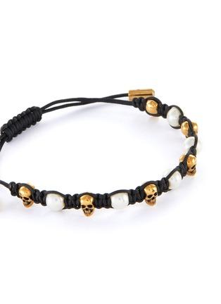 Detail View - Click To Enlarge - ALEXANDER MCQUEEN - Swarovski glass pearls friendship bracelet