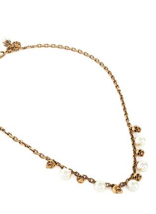 Detail View - Click To Enlarge - ALEXANDER MCQUEEN - Swarovski Pearl skull necklace
