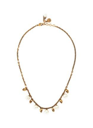 Main View - Click To Enlarge - ALEXANDER MCQUEEN - Swarovski Pearl skull necklace
