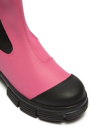 Detail View - Click To Enlarge - GANNI - Lug sole rubber Chelsea boots