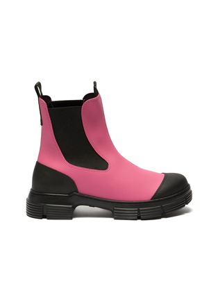 Main View - Click To Enlarge - GANNI - Lug sole rubber Chelsea boots
