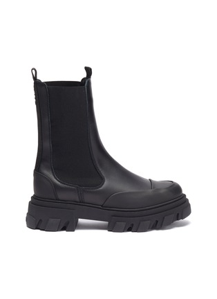 Main View - Click To Enlarge - GANNI - Chelsea Leather Boots