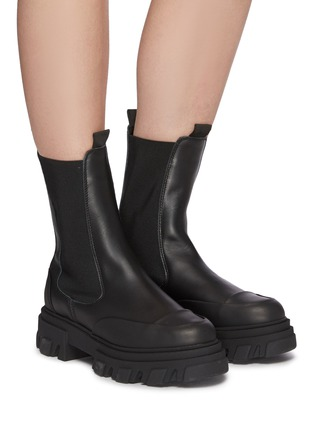 Figure View - Click To Enlarge - GANNI - Chelsea Leather Boots