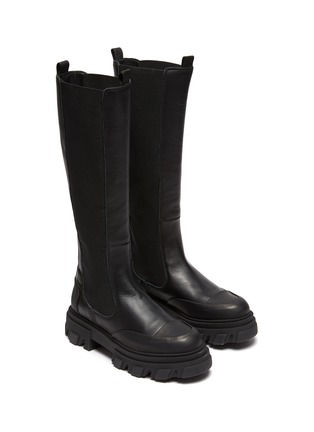Detail View - Click To Enlarge - GANNI - Knee High Leather Boots