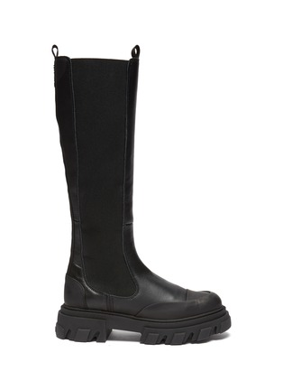 Main View - Click To Enlarge - GANNI - Knee High Leather Boots