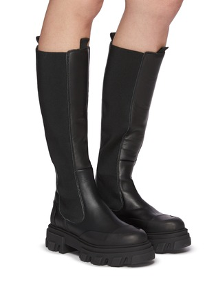 Figure View - Click To Enlarge - GANNI - Knee High Leather Boots