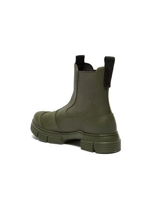 - GANNI - Lug sole rubber Chelsea boots