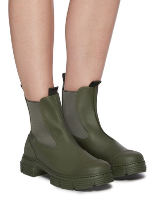 Figure View - Click To Enlarge - GANNI - Lug sole rubber Chelsea boots