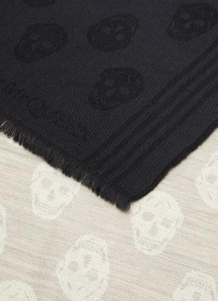 Detail View - Click To Enlarge - ALEXANDER MCQUEEN - Skull jacquard dip dye wool scarf