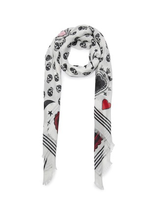 Main View - Click To Enlarge - ALEXANDER MCQUEEN - Mystic skull graphic foulard scarf