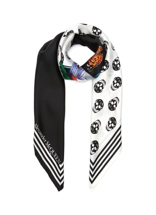 Main View - Click To Enlarge - ALEXANDER MCQUEEN - Fun fonts twill foulard scarf