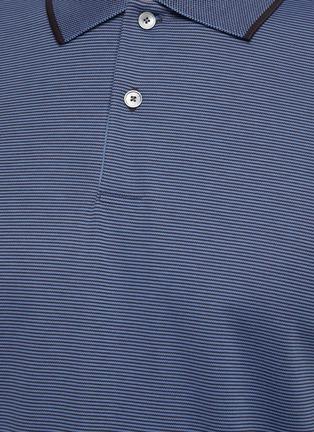 - THEORY - Stripe collar polo shirt