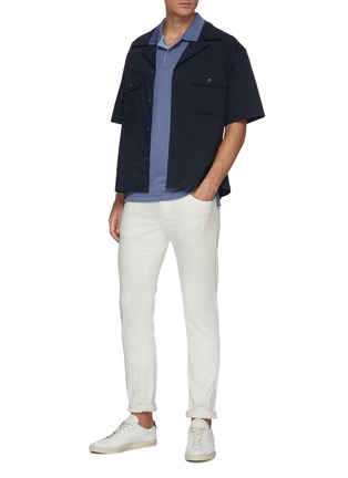 Figure View - Click To Enlarge - THEORY - Stripe collar polo shirt