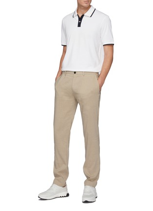 Figure View - Click To Enlarge - THEORY - Contrast stripe pima pique polo shirt