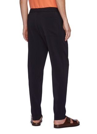 Back View - Click To Enlarge - THEORY - 'MAYER' ELASTIC WAIST FRONT PLEAT PANTS
