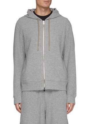 Main View - Click To Enlarge - THEORY - Terry Cotton Zip Up Hoodie