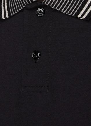 - THEORY - Stripe collar relay jersey fowler polo shirt