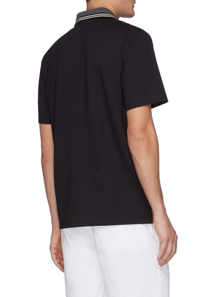 Back View - Click To Enlarge - THEORY - Stripe collar relay jersey fowler polo shirt