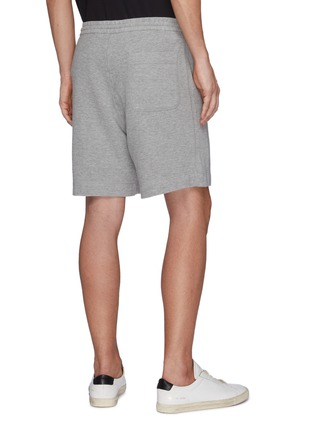 Back View - Click To Enlarge - THEORY - Drawstring Waist Terry Cotton Sweatshorts