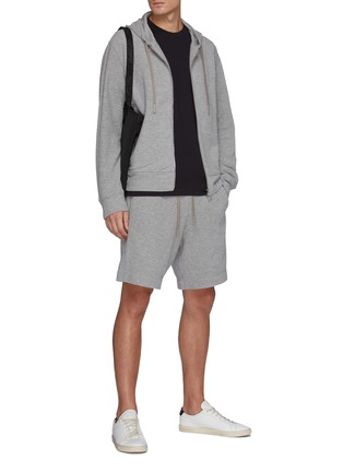 Figure View - Click To Enlarge - THEORY - Drawstring Waist Terry Cotton Sweatshorts