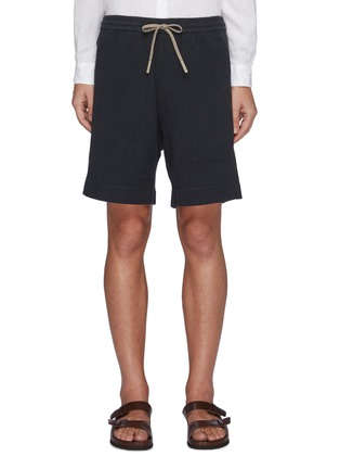 Main View - Click To Enlarge - THEORY - Drawstring Waist Terry Cotton Sweatshorts