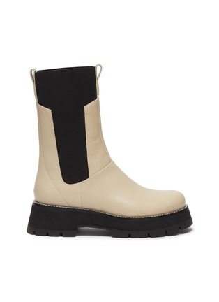 Main View - Click To Enlarge - 3.1 PHILLIP LIM - 'Kate' Elastic Panel Lug Sole Leather Chelsea Boots