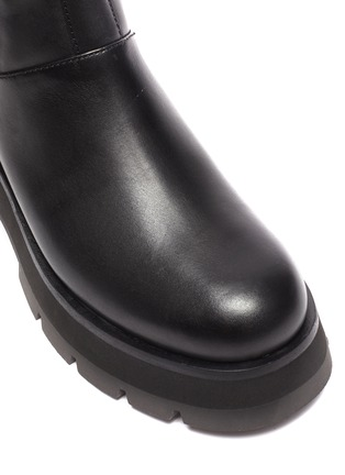 Detail View - Click To Enlarge - 3.1 PHILLIP LIM - 'Kate' Elastic Panel Lug Sole Leather Chelsea Boots