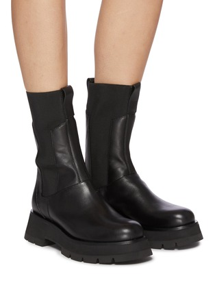 Figure View - Click To Enlarge - 3.1 PHILLIP LIM - 'Kate' Elastic Panel Lug Sole Leather Chelsea Boots