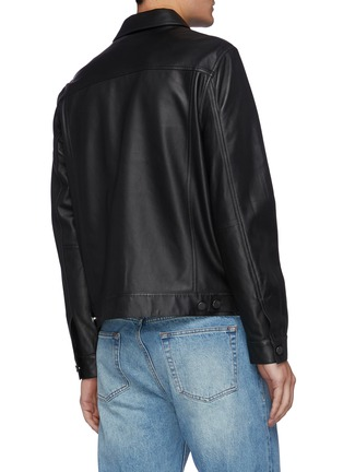 Back View - Click To Enlarge - THEORY - 'Patterson' Leather Jacket