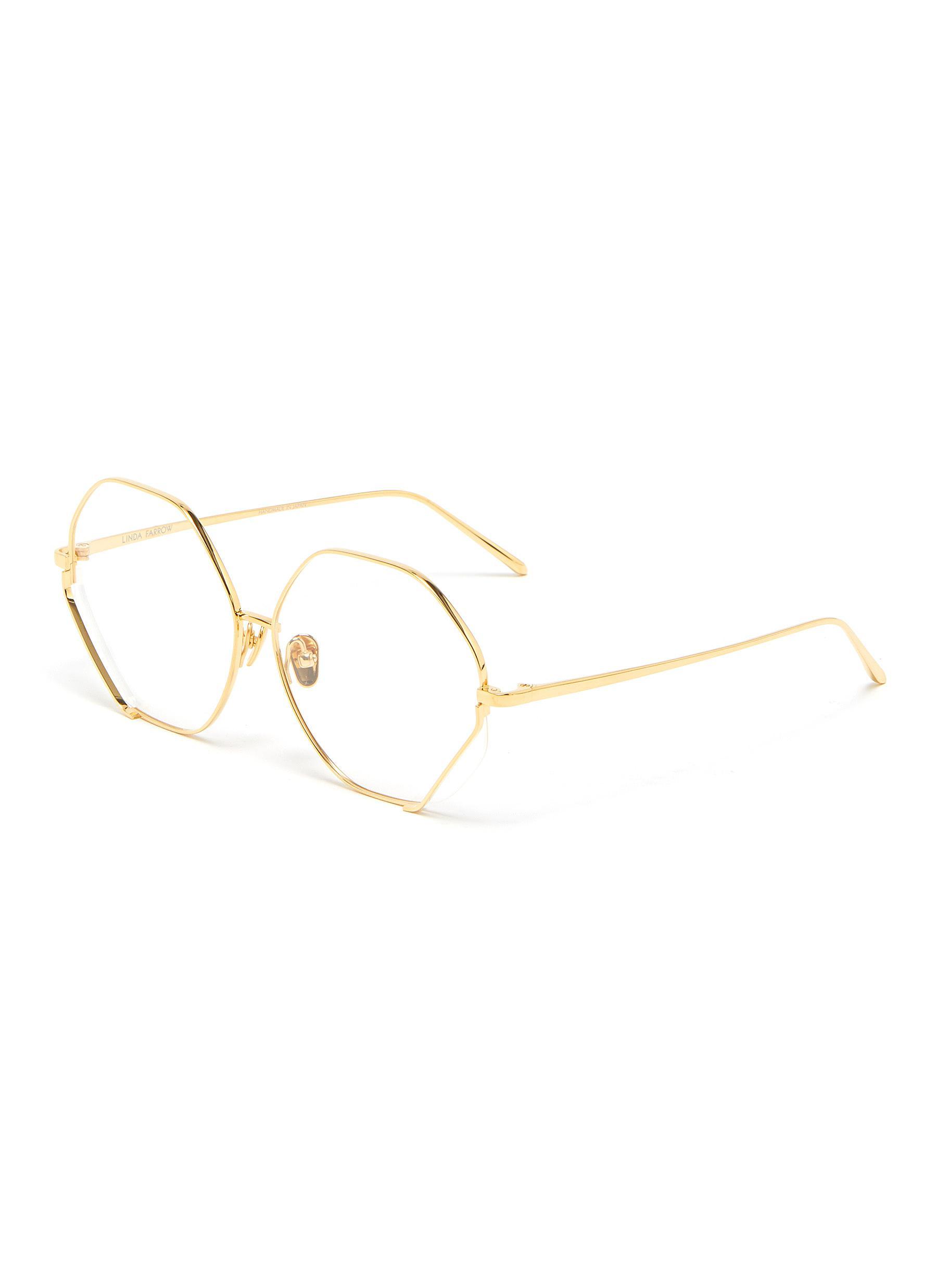 'Fawcet' Expose Cut Hexagonal Frame Optical Glasses