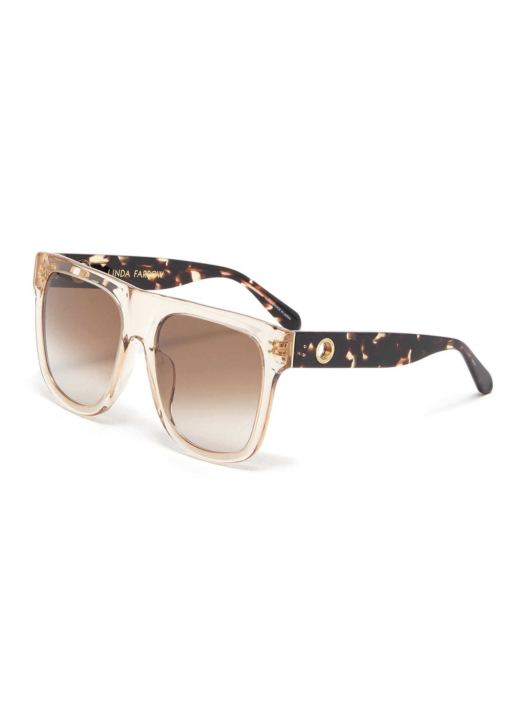 Carolina' Oversized Acetate Square Frame Sunglasses