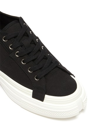 Detail View - Click To Enlarge - PEDDER RED - Linden' cut out sole canvas sneakers