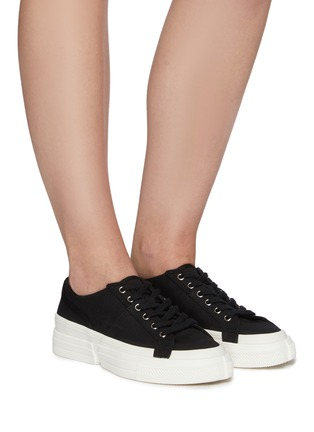 Figure View - Click To Enlarge - PEDDER RED - Linden' cut out sole canvas sneakers