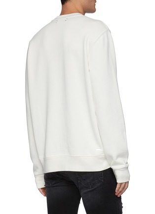 Back View - Click To Enlarge - AMIRI - Reversed Bunny Embroidery Logo Cotton Sweatshirt