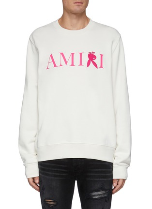 Main View - Click To Enlarge - AMIRI - Reversed Bunny Embroidery Logo Cotton Sweatshirt