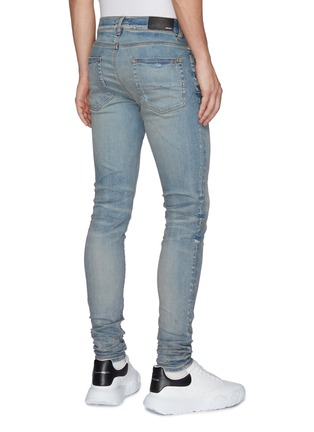 Back View - Click To Enlarge - AMIRI - Distress Detail Slim Jeans