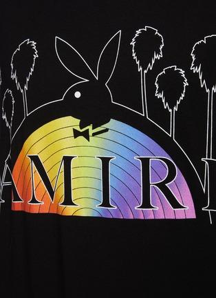 - AMIRI - Playboy Rainbow Logo Print T-shirt