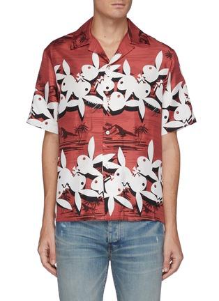 Main View - Click To Enlarge - AMIRI - Playboy Bunny silk Hawaiian Shirt