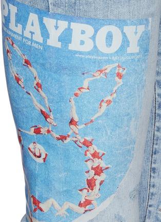 - AMIRI - Playboy Magazine Distress Detail Slim Jeans
