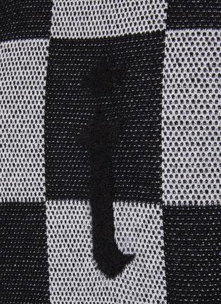 - AMIRI - Logo Chequered Cashmere Knit Crewneck Jumper