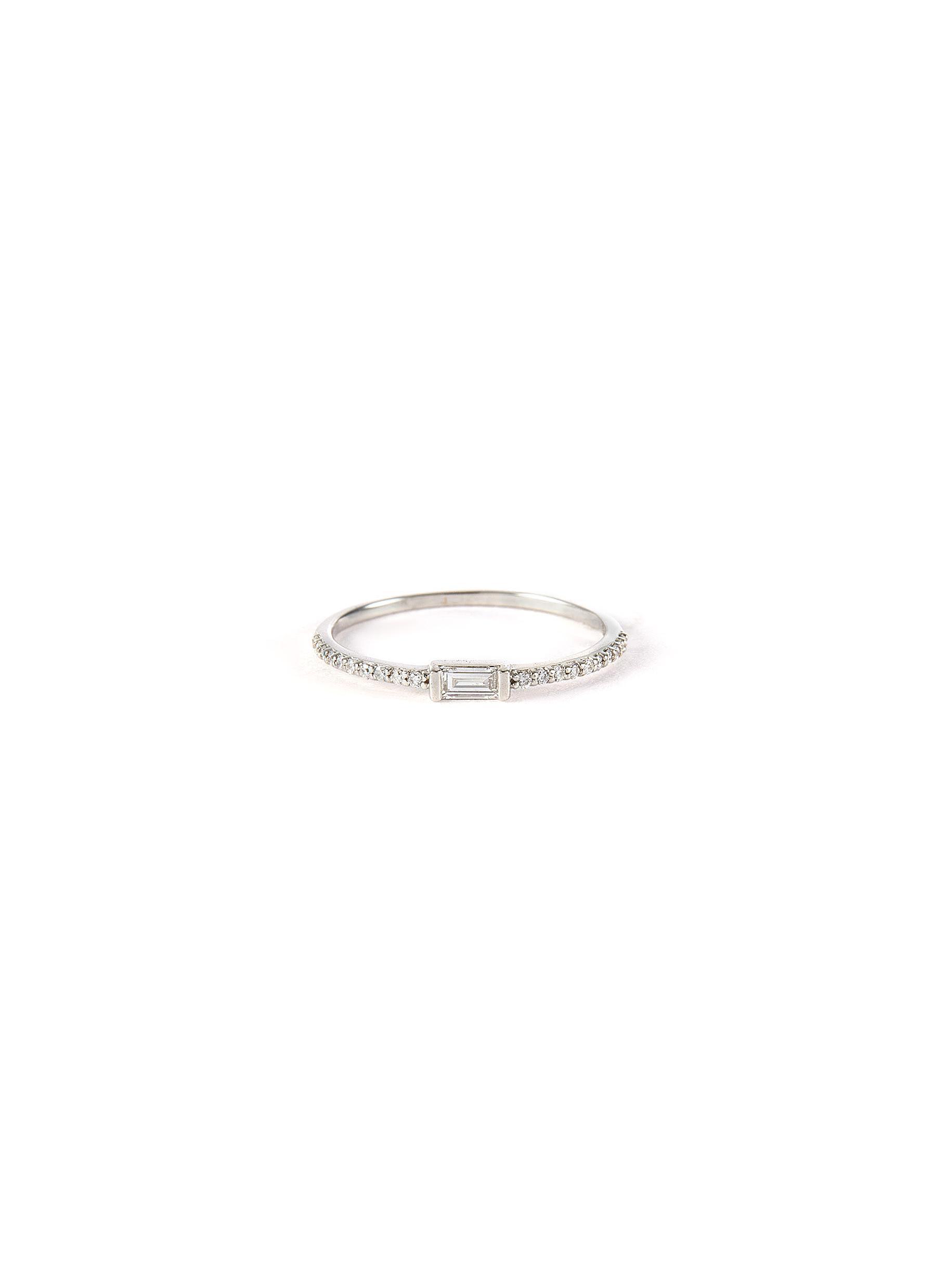 'Ilaria' lab grown diamond 9k white gold ring
