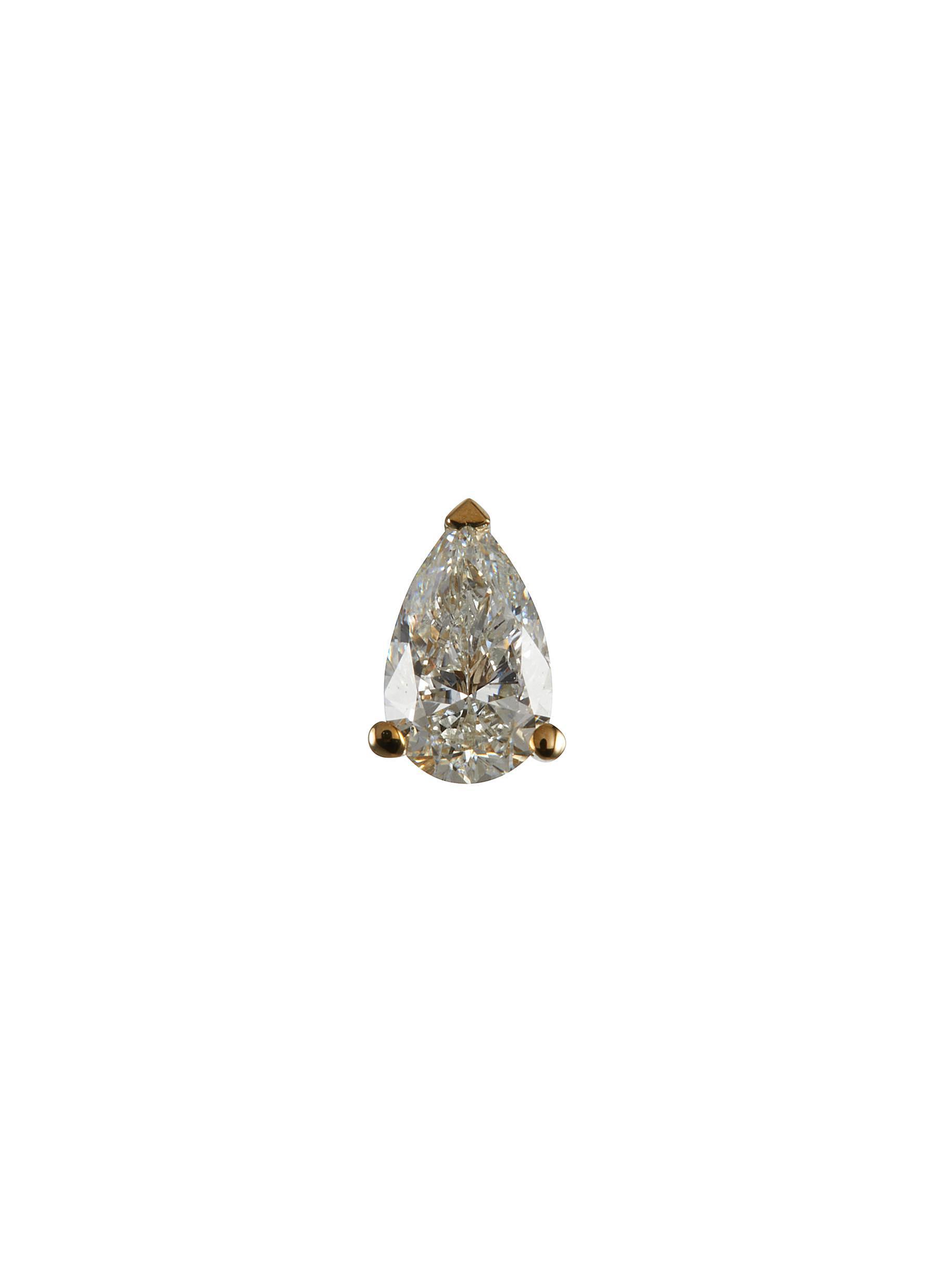 'Simone' lab grown diamond 9k gold stud earring