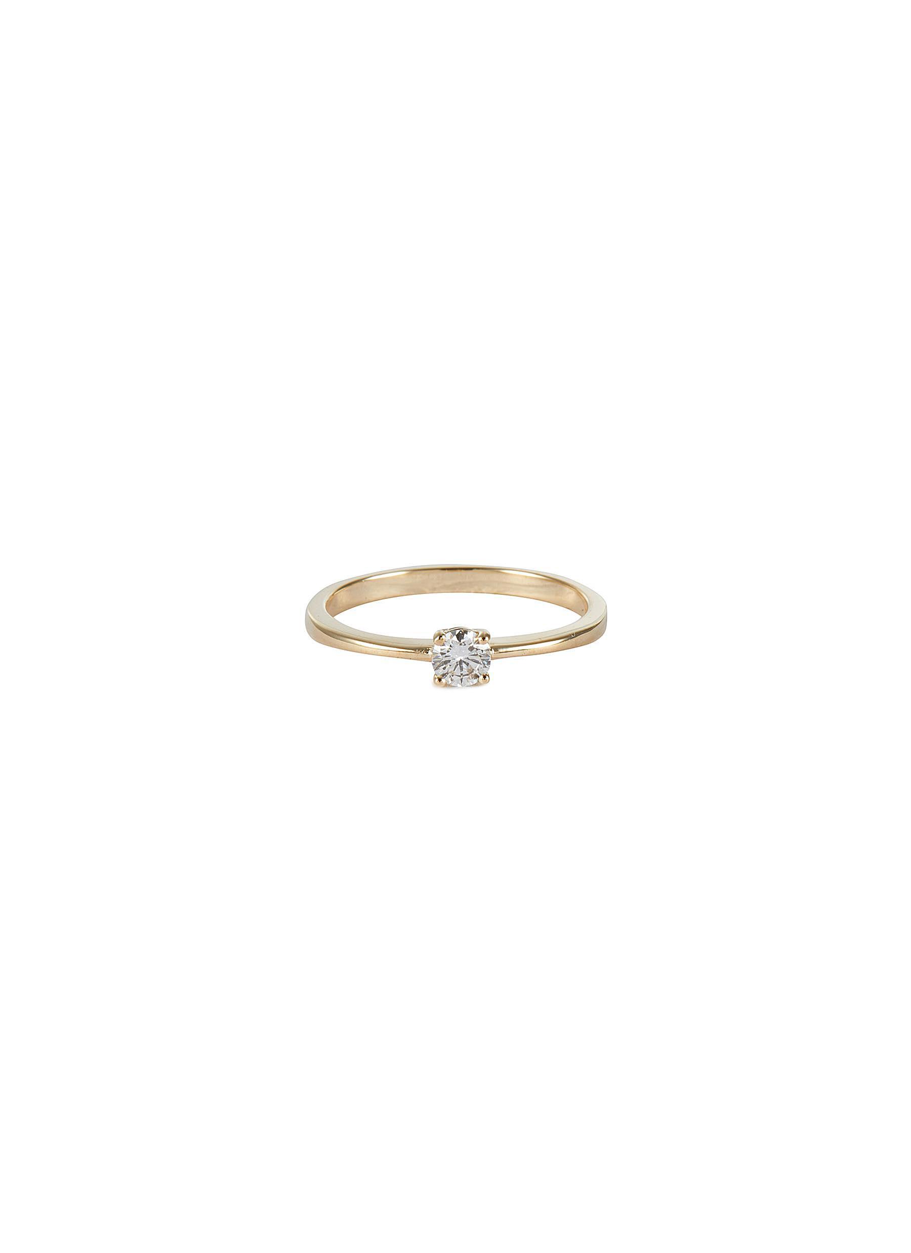 'Alora' lab grown diamond 9k gold ring