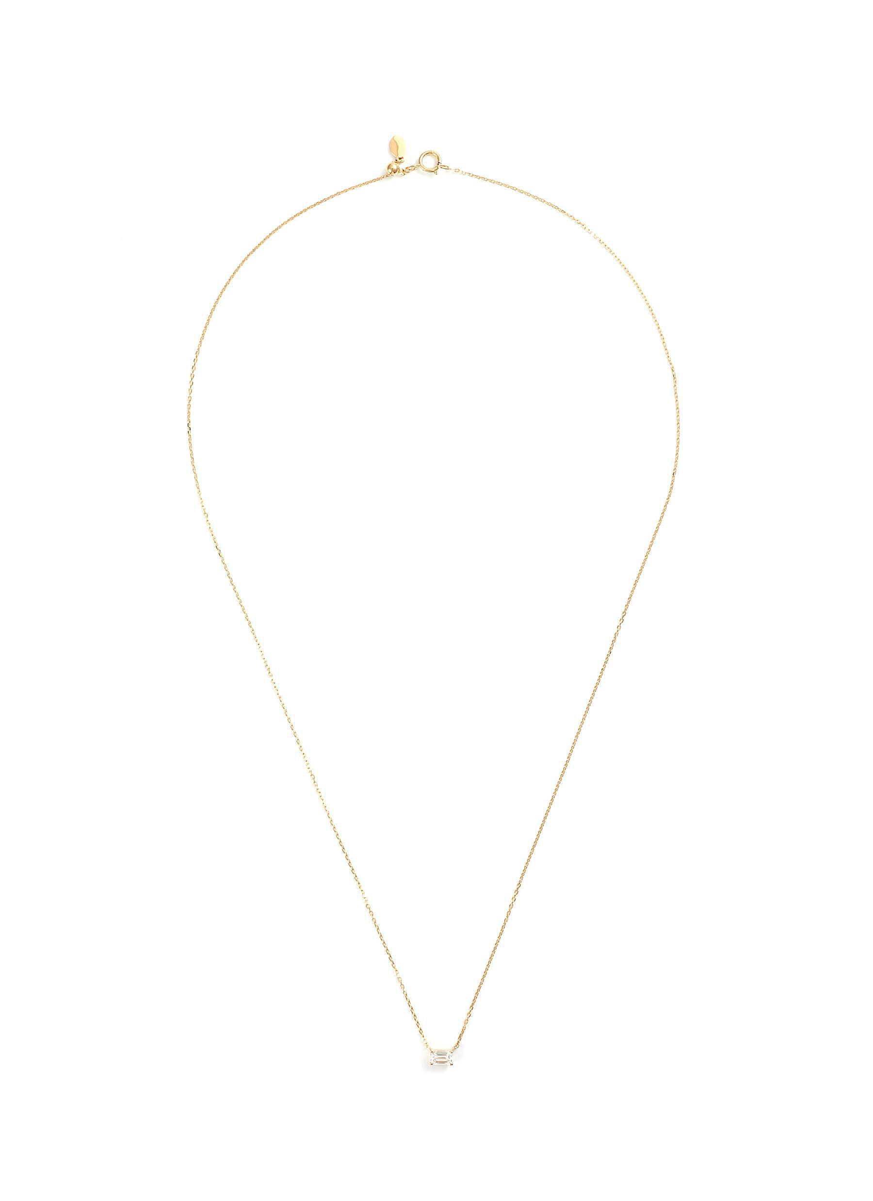 'Monet' lab grown diamond 18k gold pendant necklace