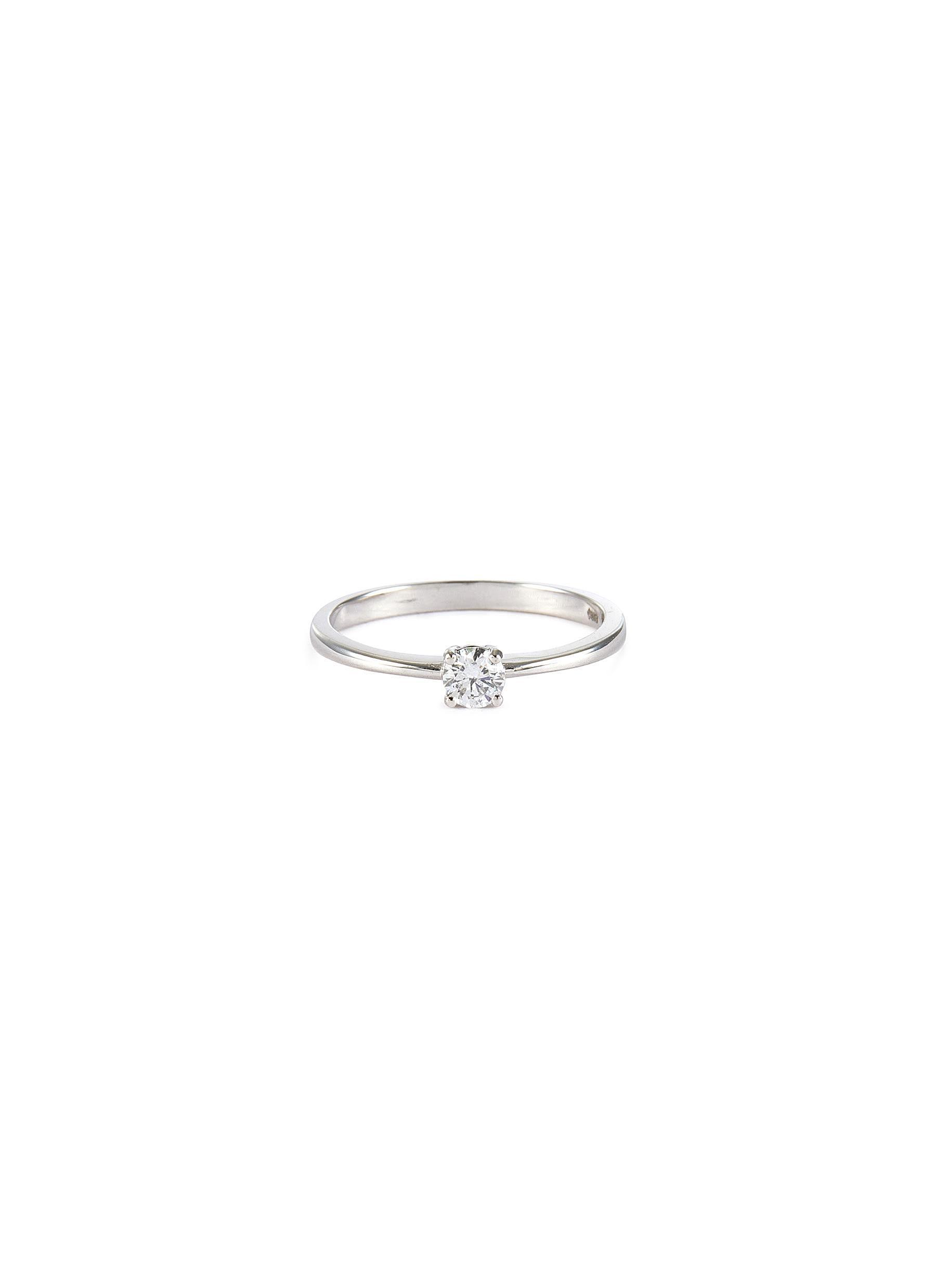 'Alora' lab grown diamond 9k white gold ring