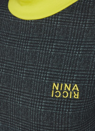 - NINA RICCI - Houndstooth Jersey High Neck Top